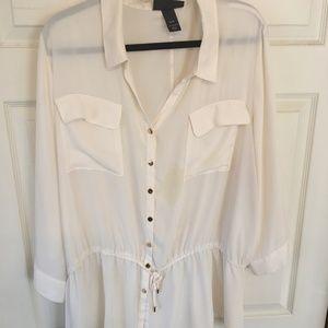 Lane Bryant 26/28 Tie-Waist blouse